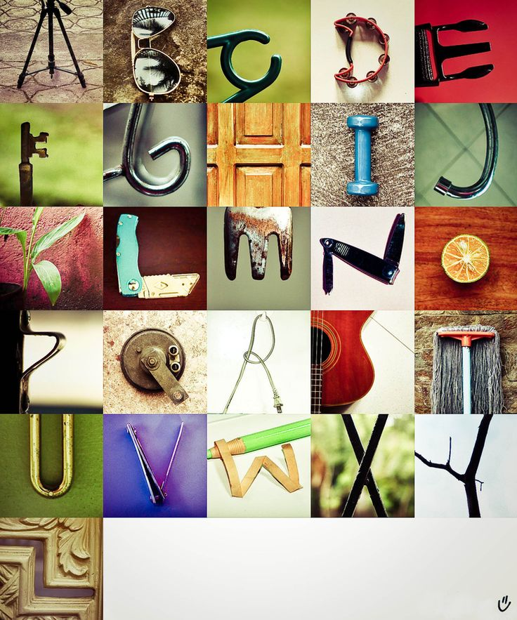 object alphabet letters pinterest With pictures of letters made from objects