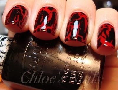 Gorgeous crackle nail polish.