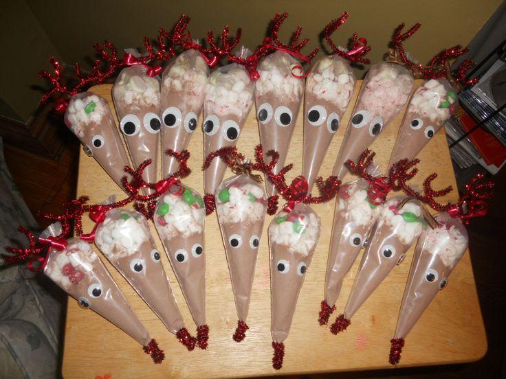 Rudolph hot chocolate treats gift ideas pinterest