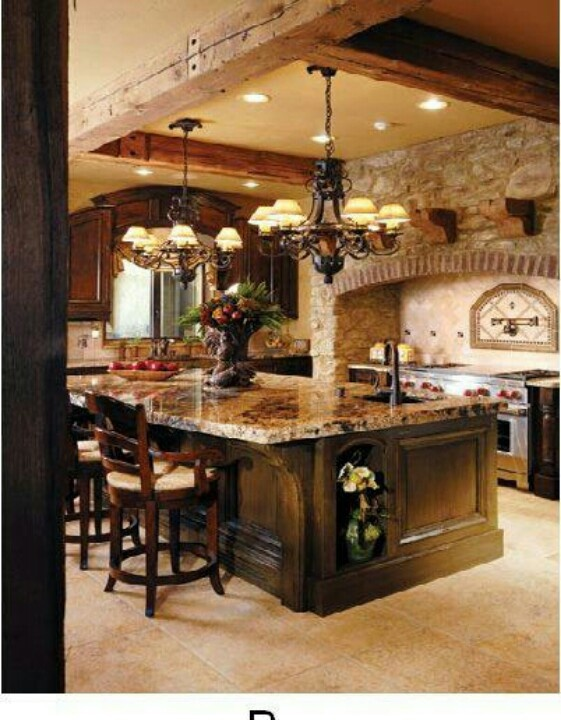 Dream kitchen dream home pinterest for House plans with big kitchens and hearth rooms