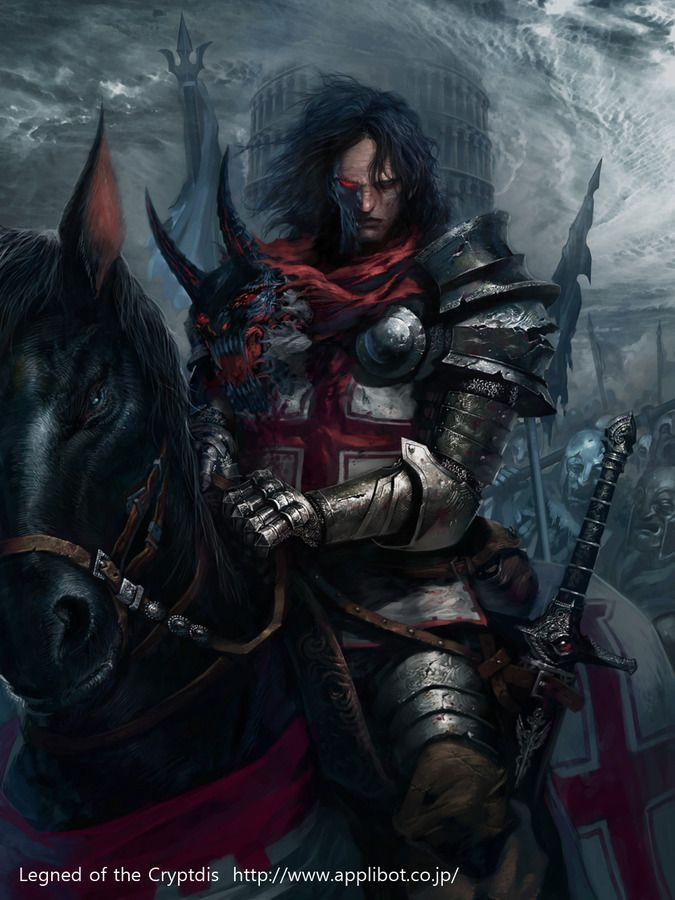 Fantasy Knight Art Dark knight. fantasy art