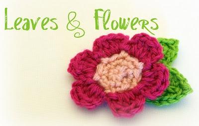 Crochet leaves and flowers Crochet Flower Patterns ...