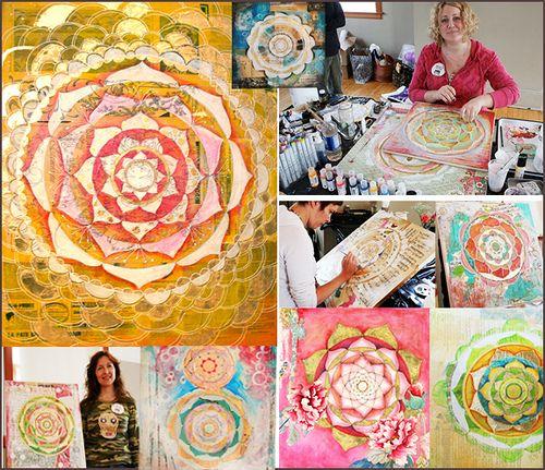 Anahata Katkin, and mandala art