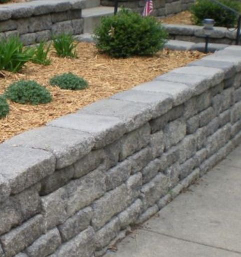 Retaining wall for front yard outdoor pinterest for Landscaping rocks nelson