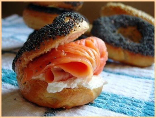 Smoked Salmon Bagel | Food Porn | Pinterest