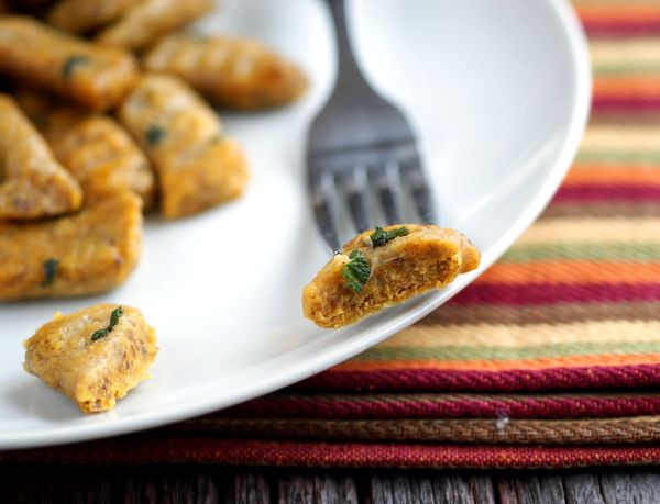 "... Egg-Free, Gluten-Free Pumpkin Gnocchi with Browned Sage ""Butter"