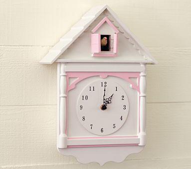 Pottery barn kids cuckoo clock kid s room pinterest for Kids room clocks