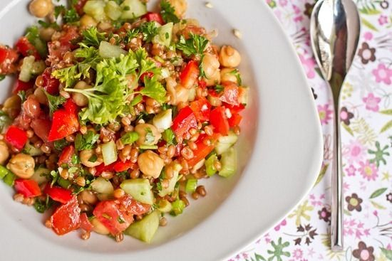 Back on Track Wheat Berry and Bean Salad | Vegan Delicacies! | Pinter ...