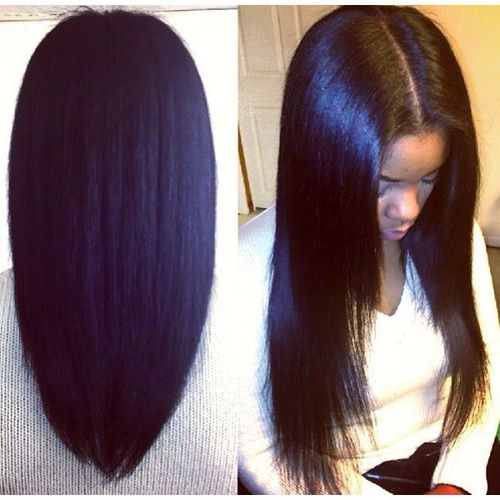 Straight Hair Sew in Hairstyles