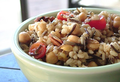 Brown & Wild Rice and Barley Salad with Chick Peas