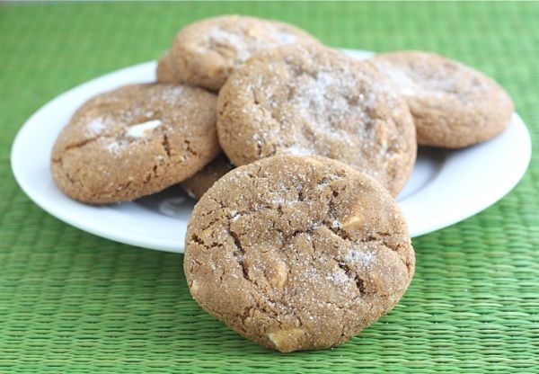 Soft Gingersnap Cookies with White Chocolate Chunks | Recipe