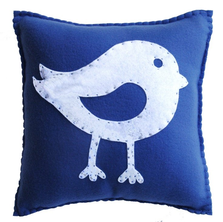 Bird Pillow - Cute, Cuddly Soft Fleece for home or nursery decor,  boy or girl, birthday or just because.. $23.00, via Etsy.