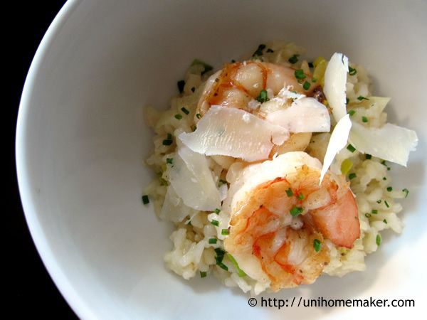 Shrimp Leek and Prosecco Risotto | Yummies | Pinterest
