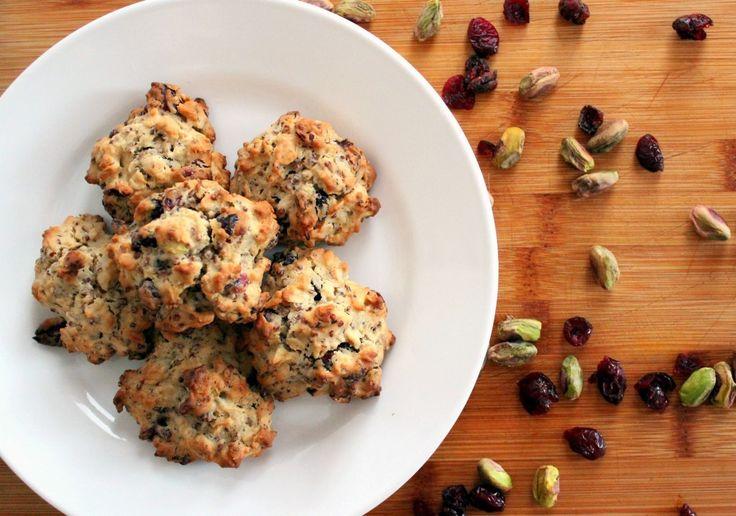 Recipe: Cranberry-Pistachio Oatmeal-Quinoa Cookies | Poor Girl Eats ...