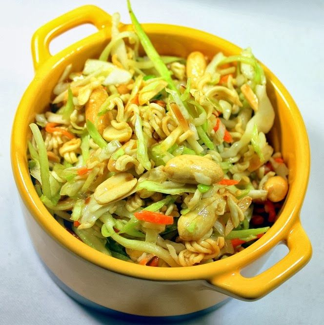 Inspired By eRecipeCards: Asian Ramen Noodle Salad - FAST EASY ...