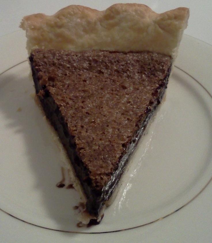 chocolate chess pie recipe | Pie~Darling's other love | Pinterest
