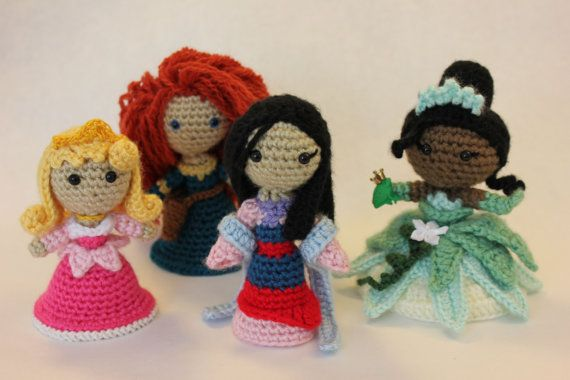 Amigurumi Disney Princess : PATTERN Instant Download Mulan Princess Amigurumi Doll
