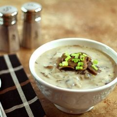 Cream of Mushroom Soup with White Wine and Leeks | Recipe