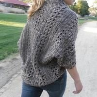 Crochet X Stitch Shrug : Crocheting: Crochet X-Stitch Shrug