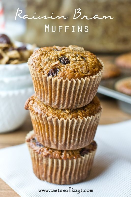 Raisin Bran Muffins are made with whole wheat flour, coconut oil, bran ...