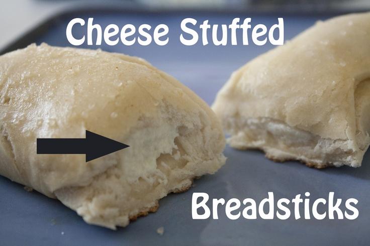 Cheese Stuffed Breadsticks   Yummy   Pinterest