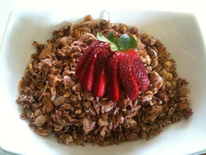 My homemade Strawberry Almond Granola. Pretty Tasty and wonderful over ...