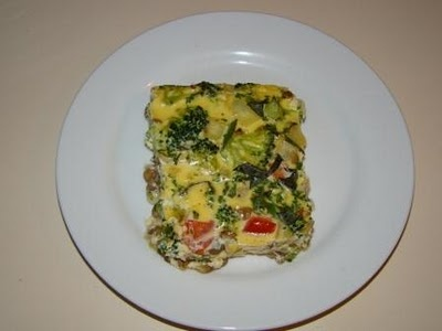 Lentil Quiche with veggies