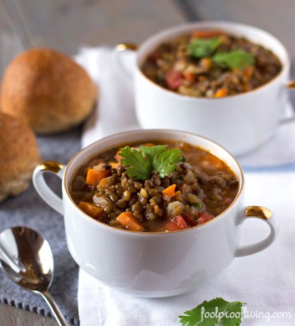 French Lentil Soup (Lentils are a great source of satiating protein ...