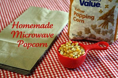 Homemade Microwave Popcorn | Recipes I Want to Try | Pinterest
