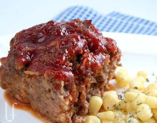 OLD-FASHIONED GLAZED MEATLOAF http://eatingwelllivingthin.wordpress ...