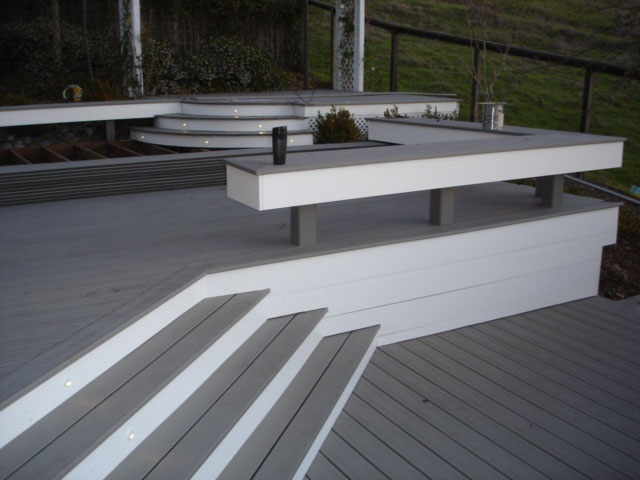Composite deck gallery 411 deck pro exterior house for White composite decking