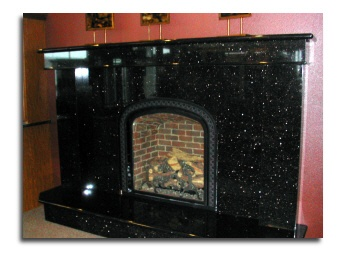 Black Galaxy Granite Fireplace Home Sweet Home