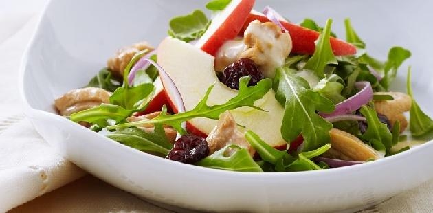 Arugula, Apple, And Pomegranate Salad With Cider-Honey Vinaigrette ...