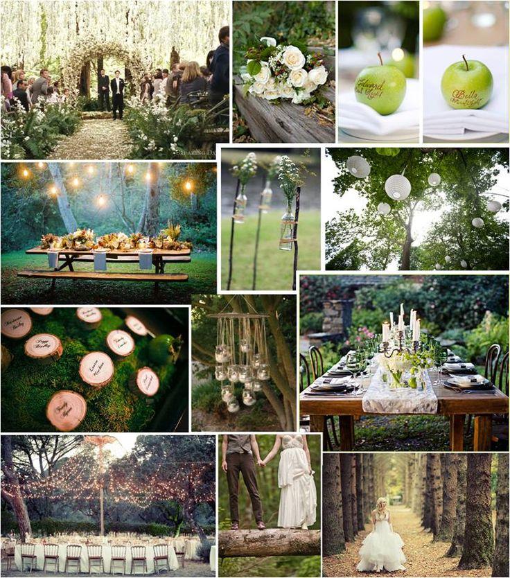 Backyard Forest Wedding : Outdoor forest theme  Ryan and Katies wedding  Pinterest