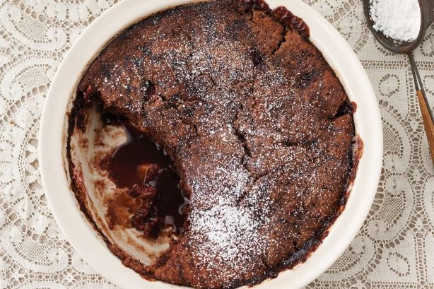 Go to this hazelnut and chocolate self-saucing pudding for the perfect ...