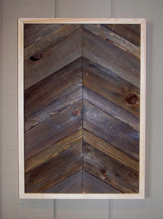 reclaimed wood chevron pattern wall art diy ideas