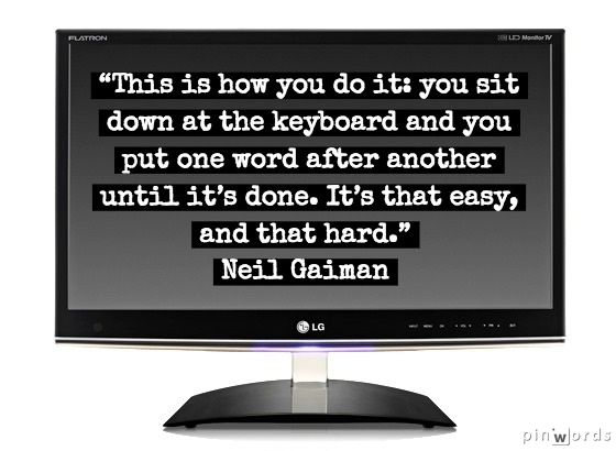 Neil Gaiman Quote Writing About