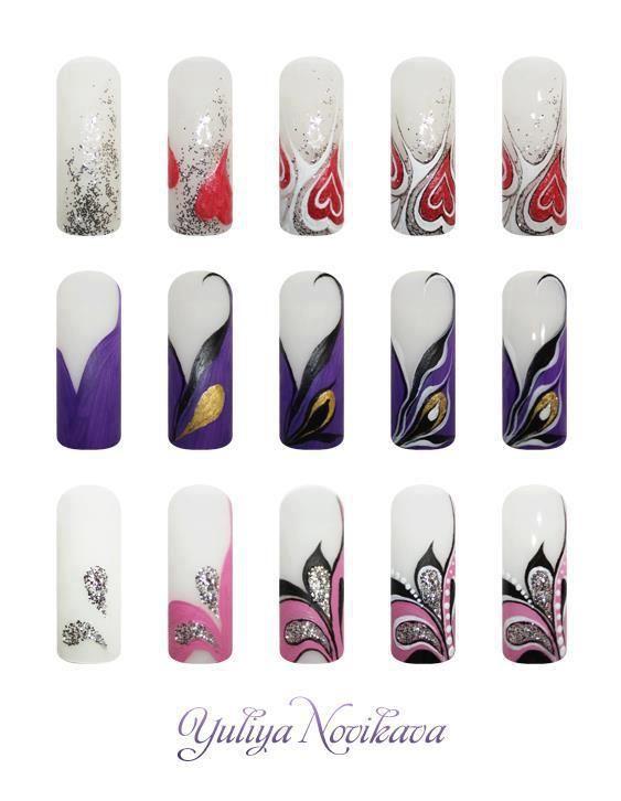 Пошаговый дизайн гелем ногтей