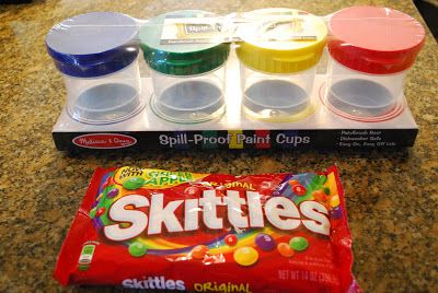 Create paint with skittles!