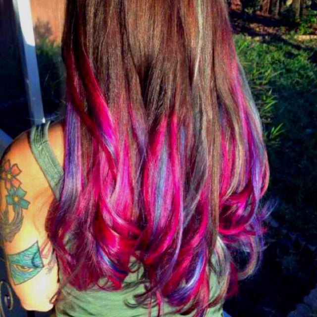 ombre multi color tumblr of multi color ombre hair