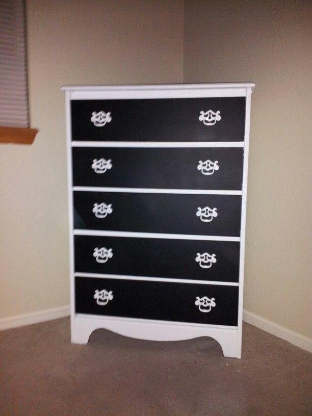 Best Black And White Dresser Refinished Crafty Pinterest 640 x 480