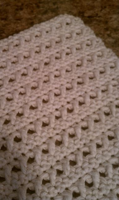 Crochet X Pattern : cool stitch--free pattern for washcloth using this x-stitch.