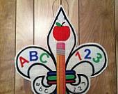 Teacher/School Supplies Fleur de Lis