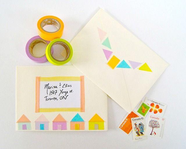マスキングテープ手紙封筒デコアレンジ