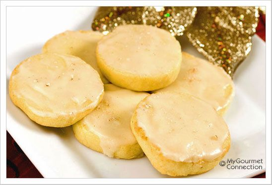 Egg Nog Cookies With Rum Icing - got to try these for baby boy who ...