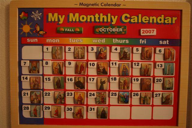 Diy Liturgical Calendar : Diy catholic saint feast day calendar time to learn