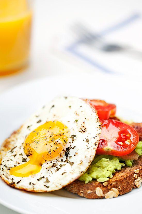 egg and avocado on toast.