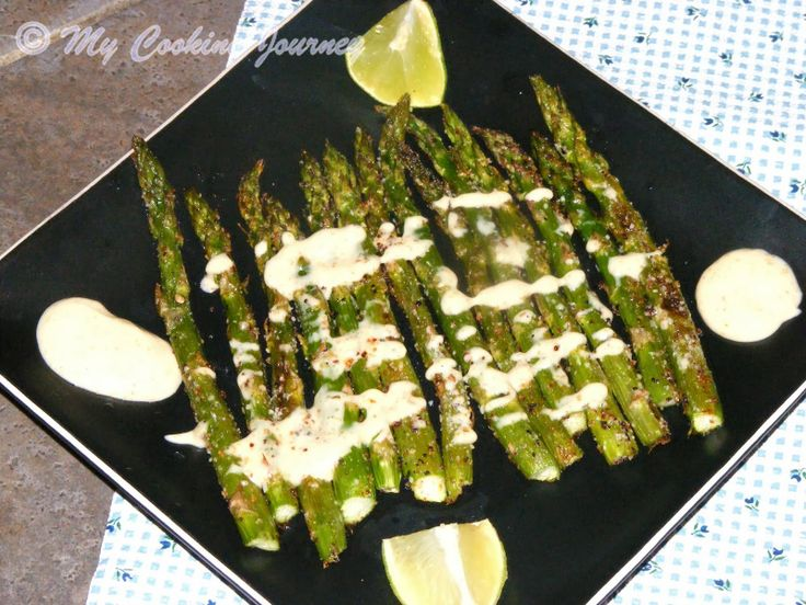 Roasted Asparagus with Creamy Dipping Sauce