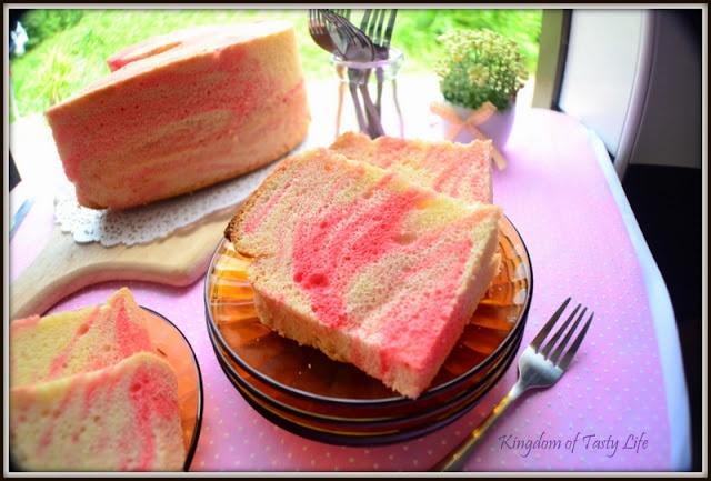 Strawberry milk chiffon cake   Cakes   Pinterest