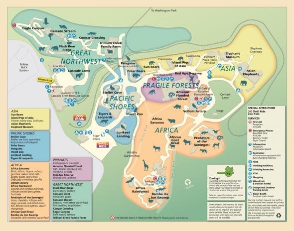 Portland Zoo Map  MAP